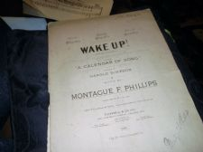 ANTIQUE SHEET MUSIC 1913 WAKE UP CALENDAR OF SONG SIMPSON MONTAGUE PHILLIPS